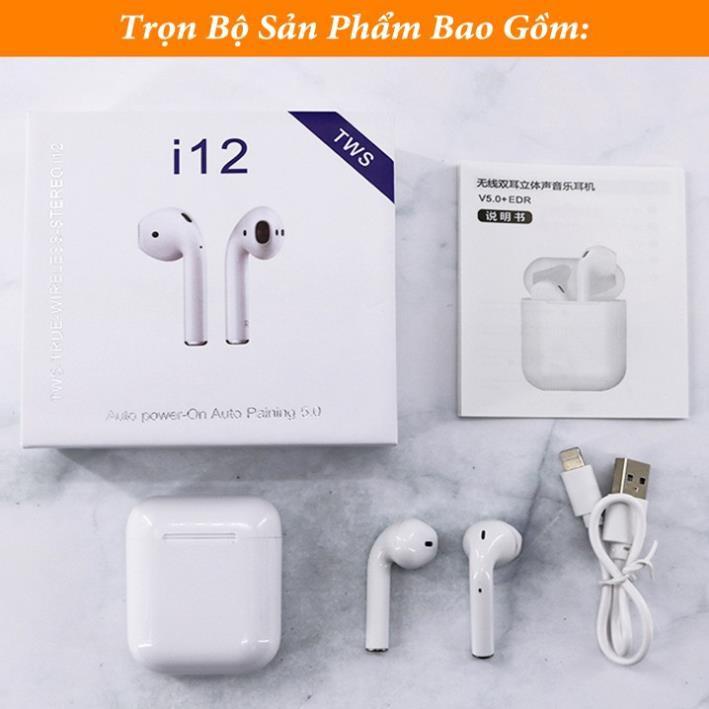 Tai Nghe Bluetooth airpods i12 tws ,Công Nghệ 5.0,Bass tress nghe cực đỉnh,pin trâu, tai nghe i12 cảm ứng tiện sử dụng