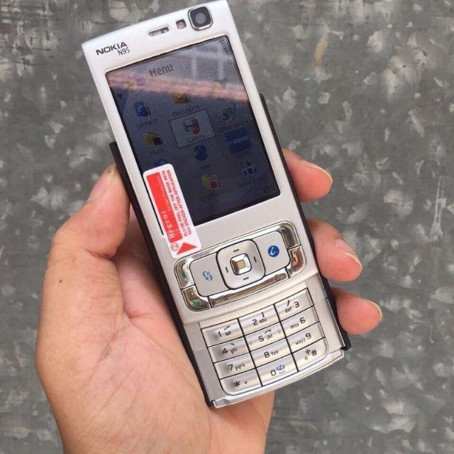 Điện Thoại Nokia N95 2GB có pin sạc zin chính hãng nắp trượt 2 chiều