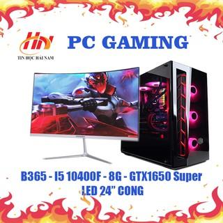 máy tính chơi game (HNC-IN8) core i5-10400/ GTX 1650 / màn 24inch new cong