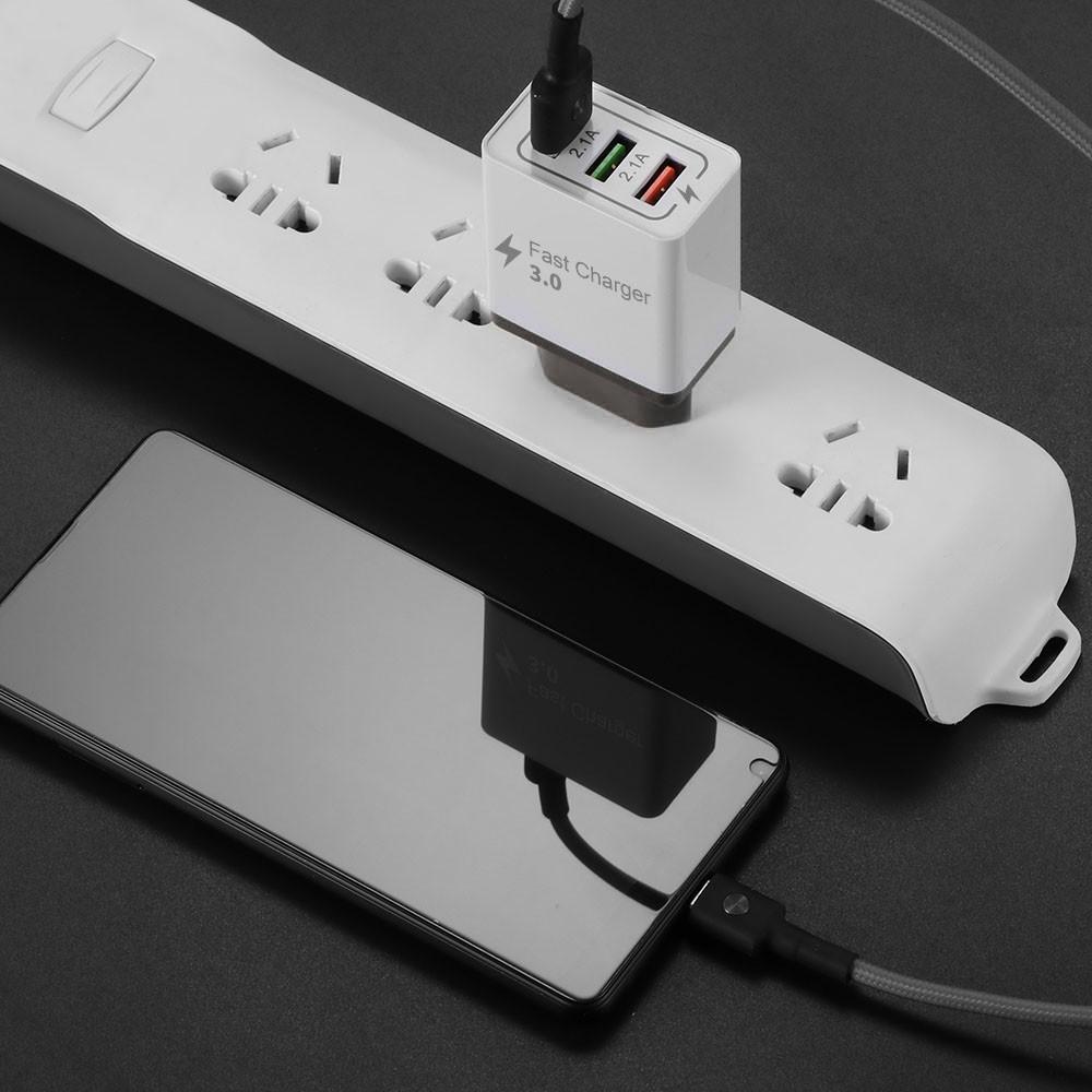 Đầu Sạc 3 Cổng Usb 5V 3A USB Charger 3 Port  Phone Charging Adapter