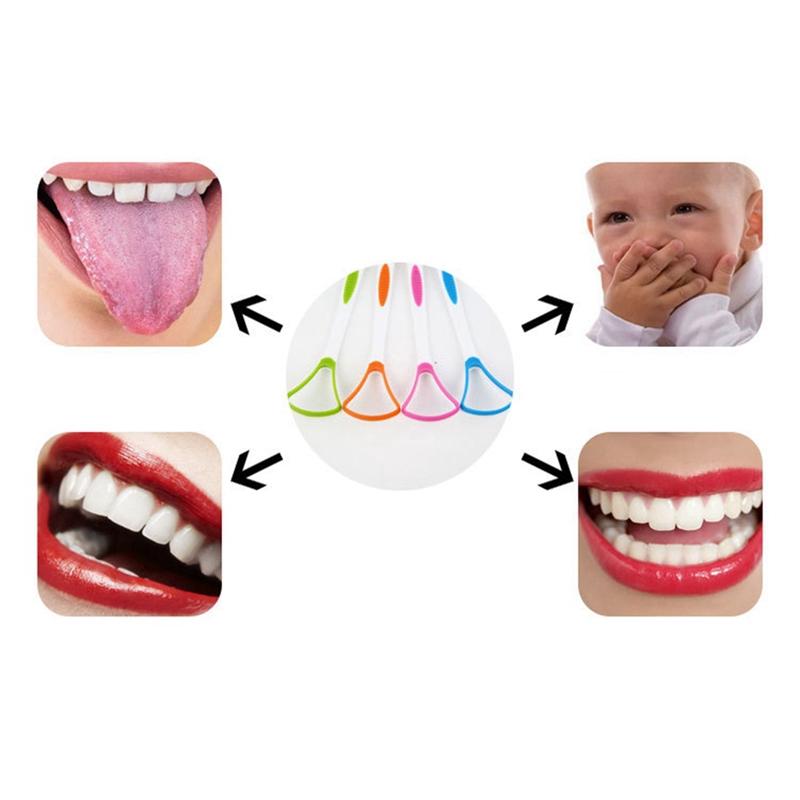 (Hàng Mới Về) 1 Bàn Chải Làm Sạch Lưỡi Chăm Sóc Răng Miệng Tiện Dụng