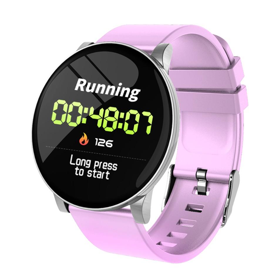 W8 Smart Watch Sport Fitness Tracker IP67 Waterproof Smartwatch - Black