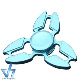 Fidget Spinner 3 cánh kim loại xanh shop vietvan02