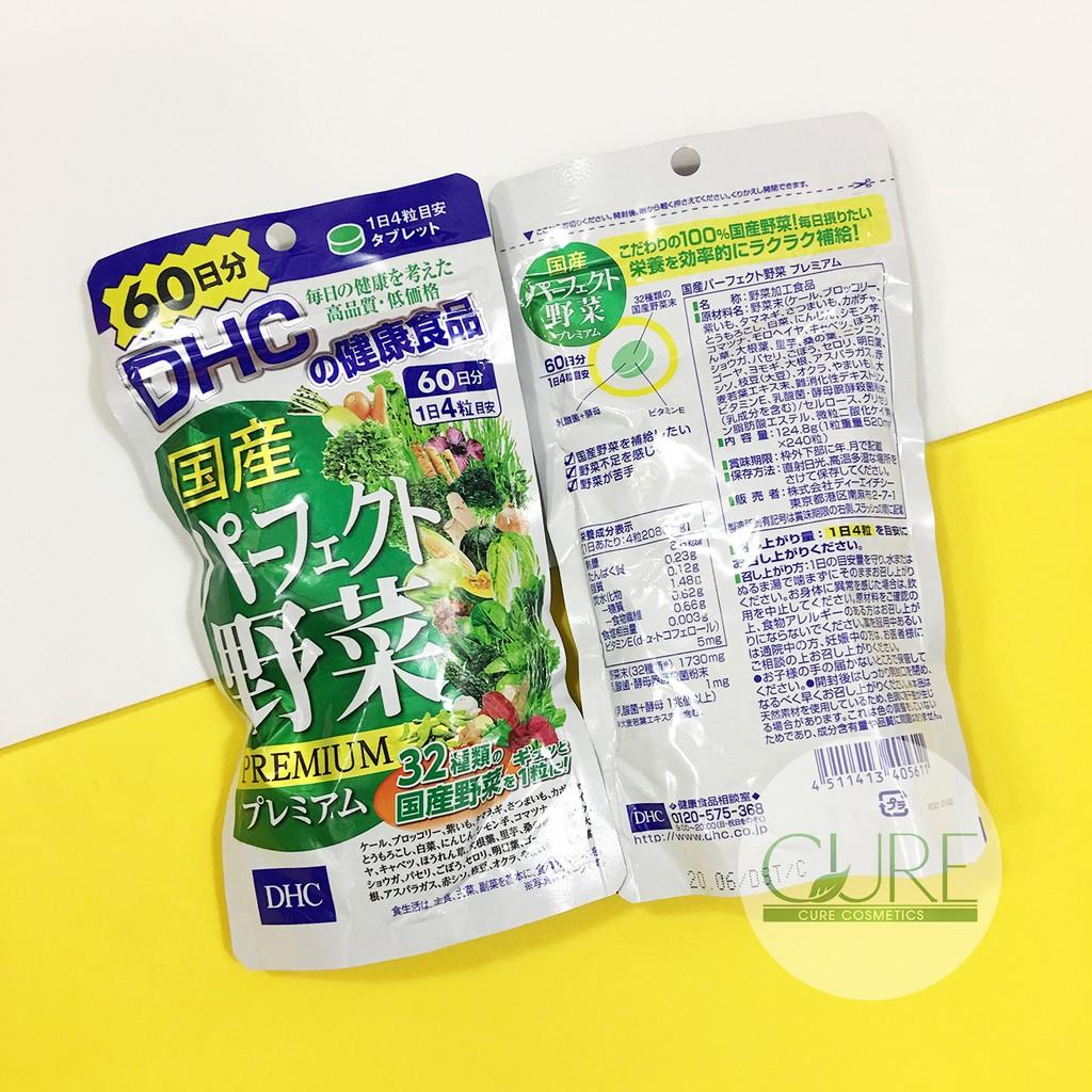 Viên uống bổ sung 32 loại rau củ quả DHC 60ngày của Nhật date 2022