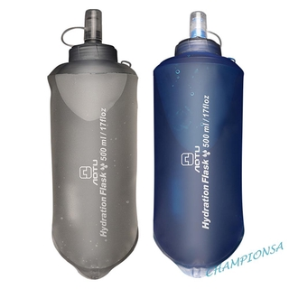AOTU 500ml Portable Foldable Water Bag Outdoor Cycling Soft Flask Bottle COD