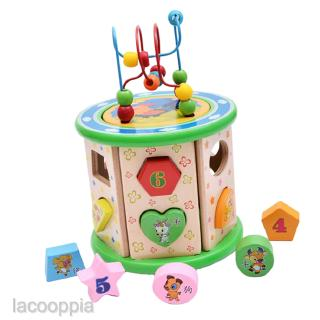 Intelligence Beads String Kids Early Education Shape Colorful Toy Boxed