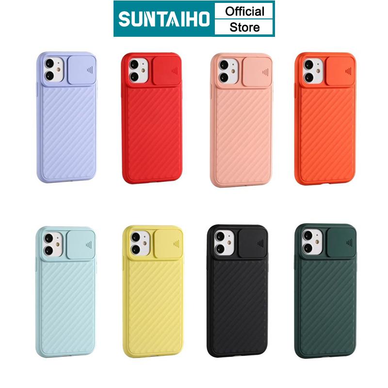 Ốp Điện Thoại SUNTAIHO TPU Mềm Có Nắp Trượt Bảo Vệ Camera Cho iPhone 11 Pro MAX SE 2020 8 7 6 6S Plus XS Max XR