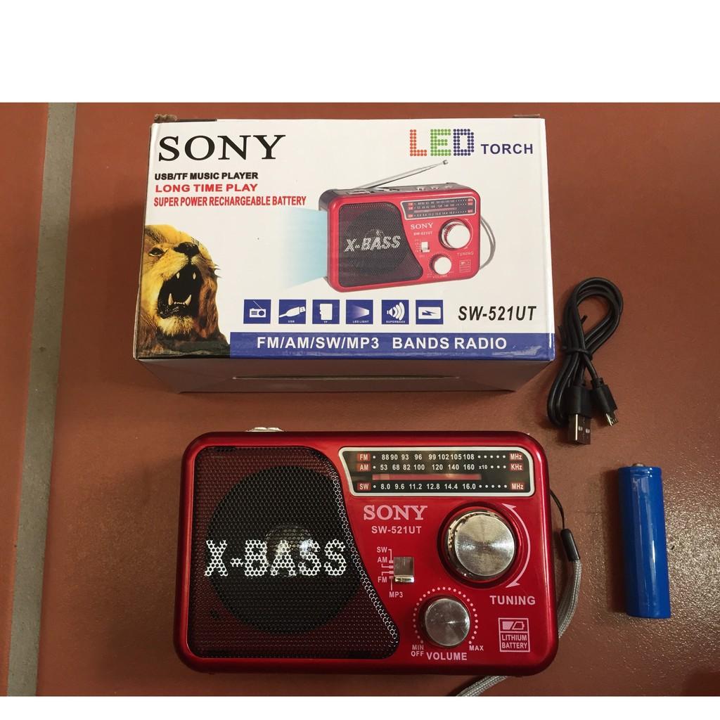 Shop bán Máy nghe nhạc kiêm đài Radio FM Waxiba XB-521URT- Đài FM 521 có hỗ  trợ thẻ nhớ TF và USB có đèn pin