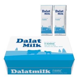 thùng 48 hộp sữa Dalat milk có đường/ít đường/không đường 180ml