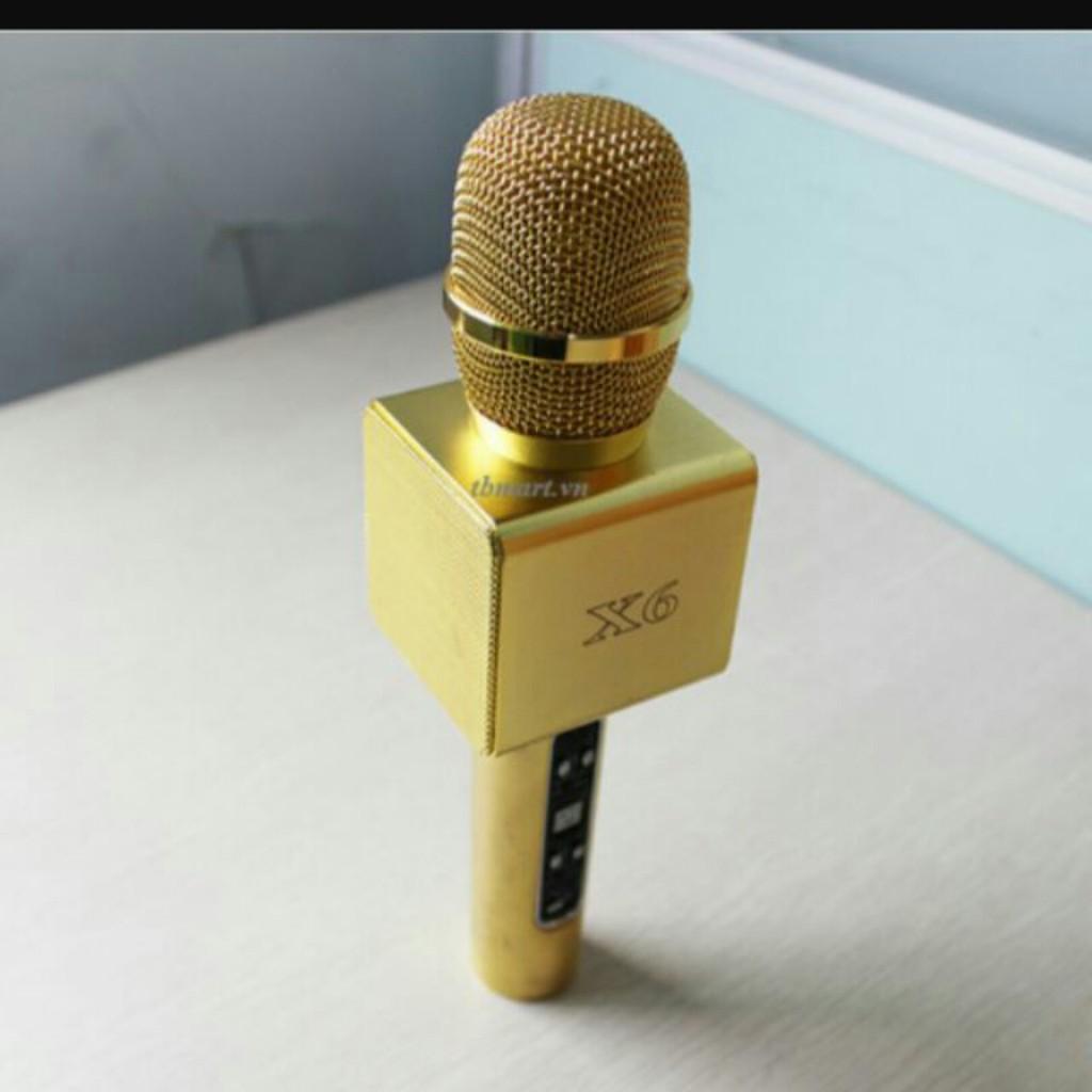 Mic hát kèm loa Bluetooth cao cấp X6