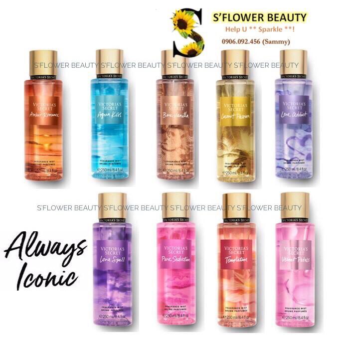 ✨VIC - BST TRUYỀN THỐNG | Xịt Thơm Nước Hoa Toàn Thân Victoria's Secret Always Iconic Fragrance Mist (250ml)