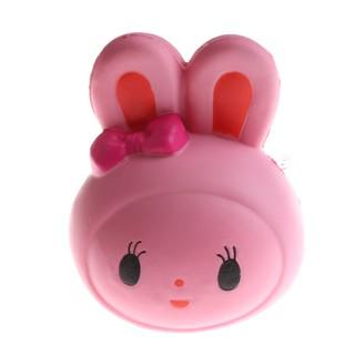 SUN11❤❤ 12 CM Cute Slow Rebound Rabbit Head Toy Funny Soft Animal Toy