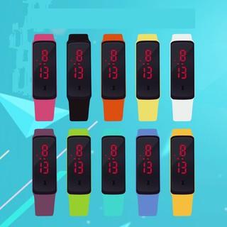 Đồng hồ Led silicon mặt gương nam nữ [Đơn 50k tặng kẹp tóc Hàn Quốc cực xinh]