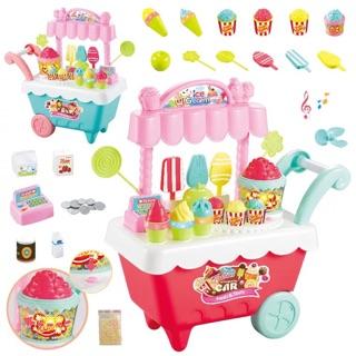 Bộ kem xe đẩy kèm bỏng ngô hàng quá đẹp luôn ko cần phải nói nhiều các mẹ ah
