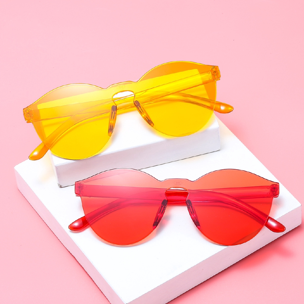 Fashion Styling Candy Color Thin Unisex Sunglasses