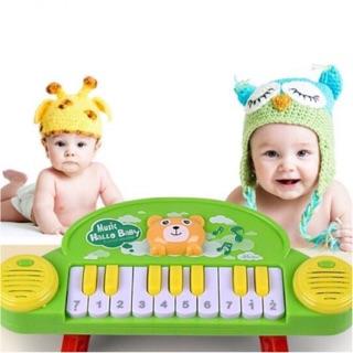 Đàn piano đồ chơi phát nhạc mini cho bé ( xanh + hồng)