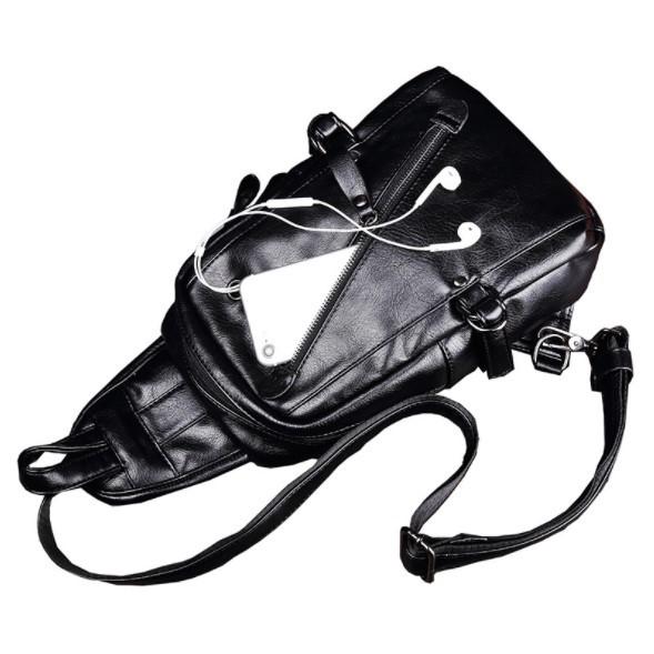 Túi đeo chéo nam 9HOPE da PU thời trang cá tính - Túi chéo nam TC105