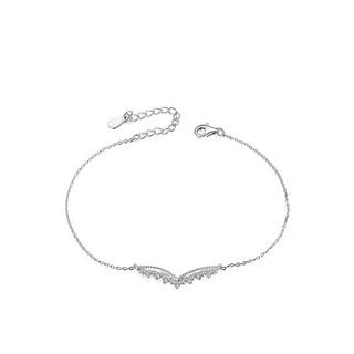 Lắc chân bạc Ý 925 Huệ Ngân - Đôi cánh thiên thần RYBJ50075