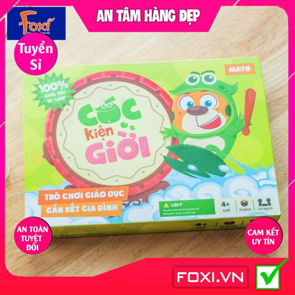 Trò chơi Cóc Kiện Trời-đồ chơi gắn kết gia đình-mang lại nhiều giá trị quý báu-giúp tăng khả năng sáng tạo,tư duy cho bé