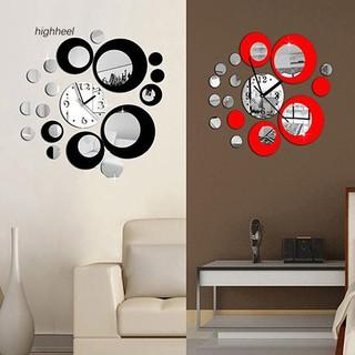 Đồng hồ kèm gương dán tường trang trí thời trang
