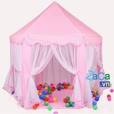 lều công chúa tặng kèm túi 100 bóng nhiều màu cho bé gái