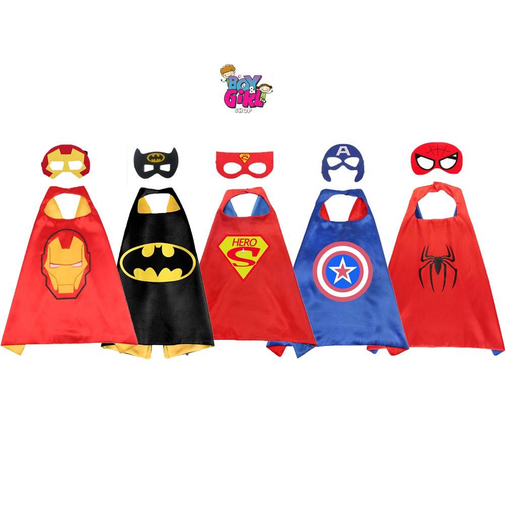 Set Áo choàng + mặt nạ siêu anh hùng cho bé trai