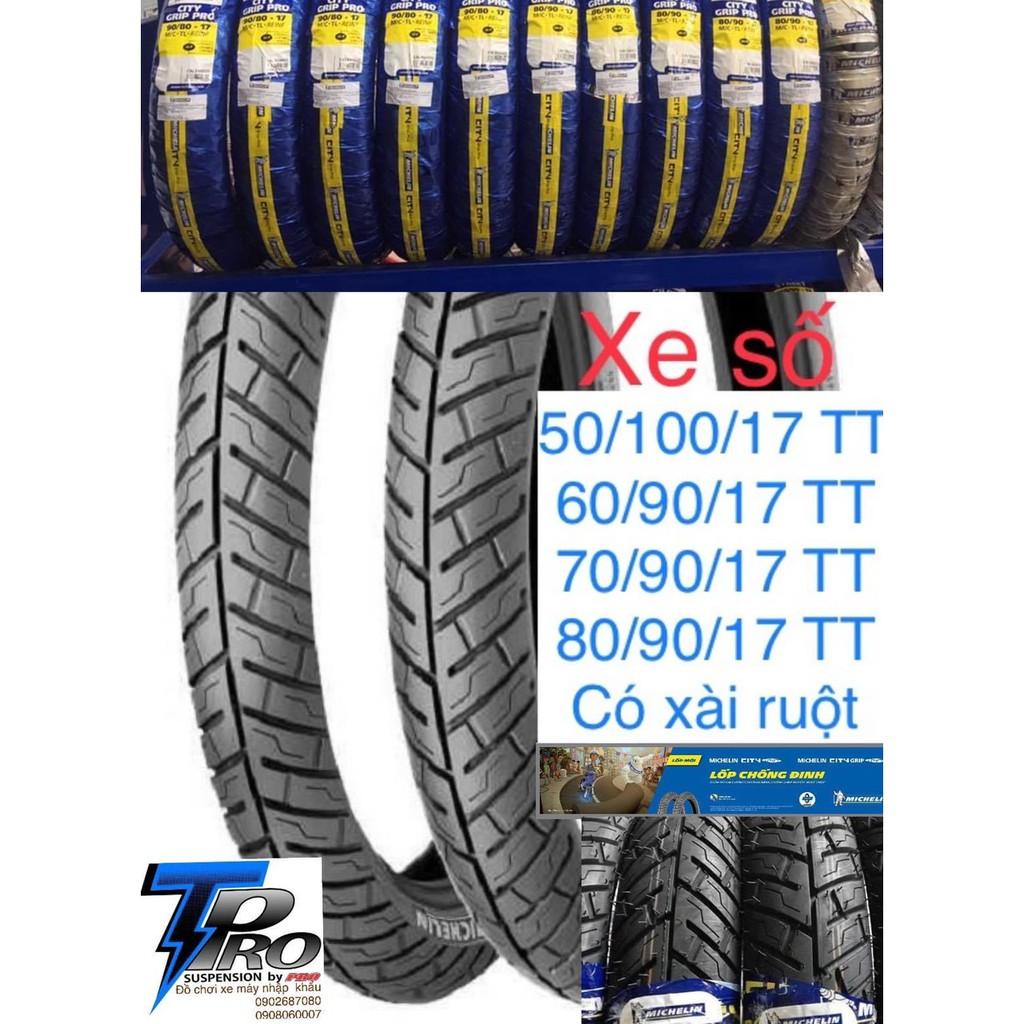 Vỏ lốp xe Michelin City-Pro dòng có dùng ruột(TT) và không dùng ruột(TL) dành cho xe số._Dochoixemaynhapkhau