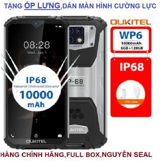 Điện thoại Oukitel WP6(chống va đập,chống nước,Ram 6Gb,Rom 128 Gb,pin 10.000mAh) thumbnail