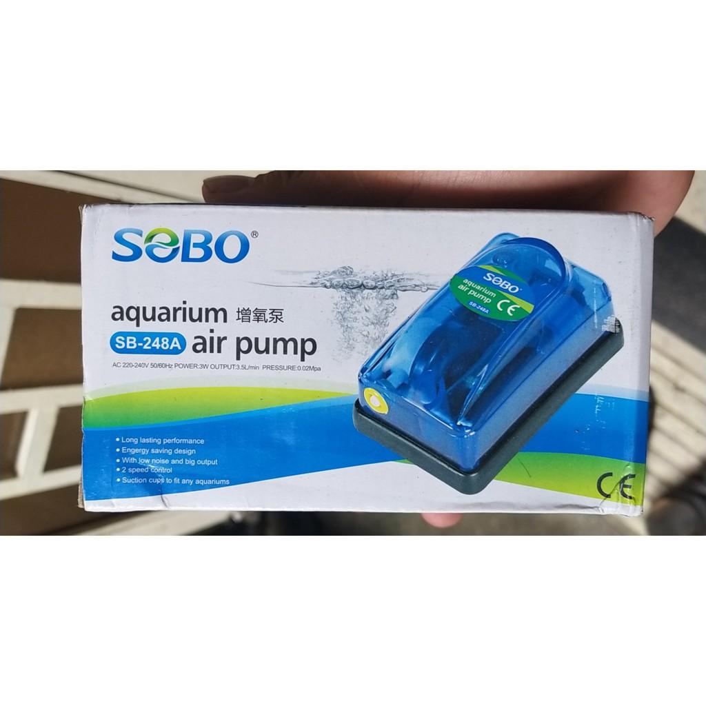 Máy sủi khí oxy một vòi siêu nhỏ gọn công suất 3W hiệu SOBO 248A