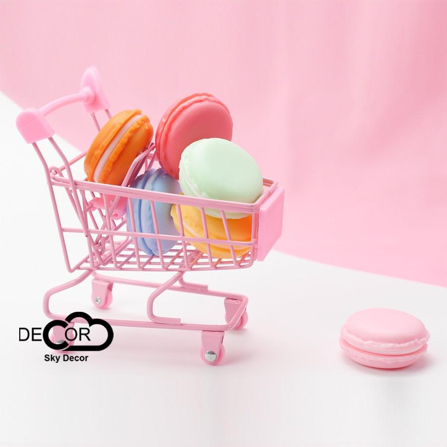 Mô hình bánh macaron trang trí, làm hộp đựng trang sức, nữ trang, đồ chơi - Sky Decor