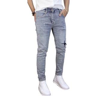 quần jean nam rách nhẹ phong cách bụi, kèm hình thật TS080