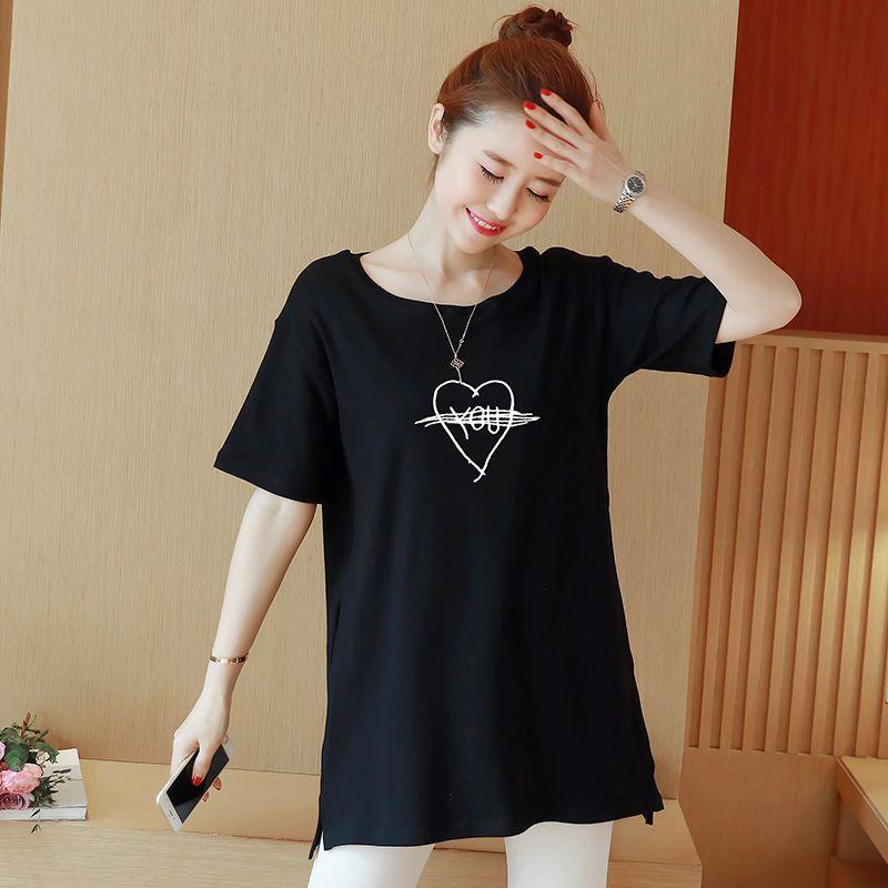 áo thun nữ tay ngắn in hình trái tim thời trang