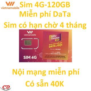 [Nhập mã ELPS204 giảm 10%]Siêu thánh sim 4G VNMB miễn phí 150GB+40k-hạn chờ 4 tháng