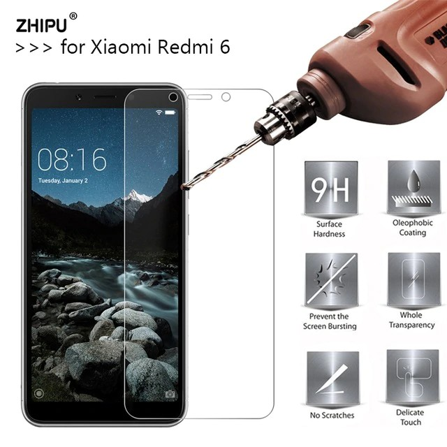 For Xiaomi Redmi 6 9H Premium Tempered Glass Screen Protector Anti-scratch film