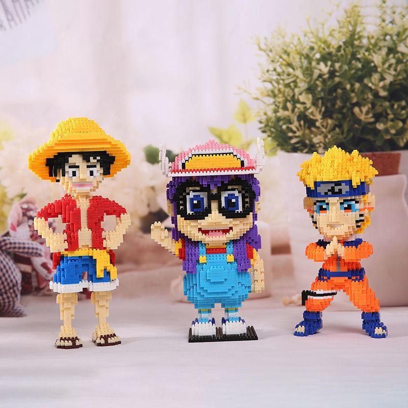 【happylife】Clearance of small particle building blocks assembling educational toys Naruto Naruto Kakashi giving birthday gifts animal building blocks [Send on...