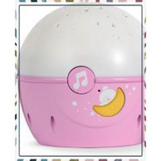 (Siêu Siêu Rẻ)Đồ chơi đèn ngủ gắn cũi phát nhạc Gấu hồng Chicco
