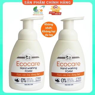 Nước rửa tay ECOCARE 250ml, cam hữu cơ, nước rửa tay diệt khuẩn siêu nhanh dạng bọt thumbnail