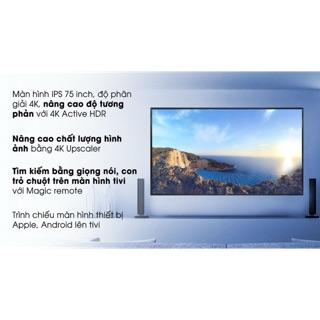 Tivi LG 4K 75 inch 75UM7500PTA( HÀNG MẪU NEW BẢO HÀNH 2 NĂM CHÍNH HÃNG)