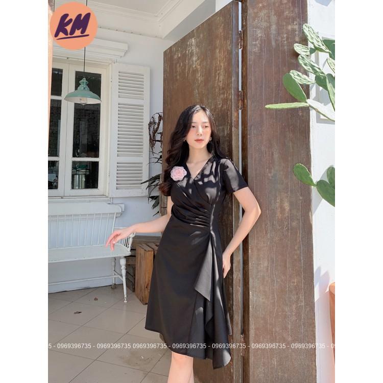 Đầm Body KM Fashion Đính Hoa - Đầm Công Sở Nữ Tính (Ảnh Thật)