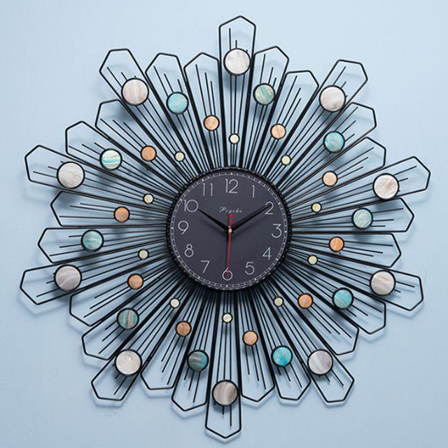 Đồng hồ treo tường phù điêu kim loại họa tiết độc đáo, hiện đại trang trí phòng khách, phòng ngủ, phòng làm việc