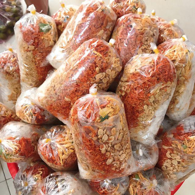 (100g) bánh tráng trộn sa tế đậu phộng rang hành phi nước sốt me tép khô bơ tắc khó bò khô mực...shopnamdung