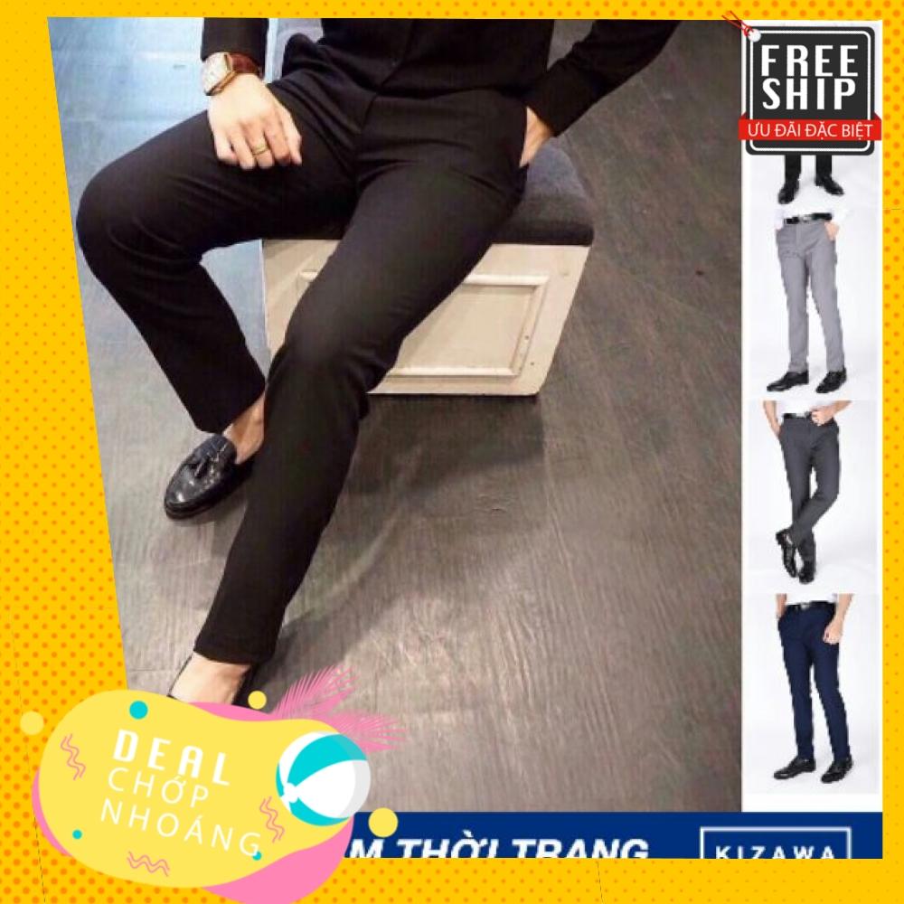 Quần âu nam Hàn Quốc quần tây nam ( quần vải ) cao cấp 3 màu soái ca vải đẹp chống nhăn, không bai không xù