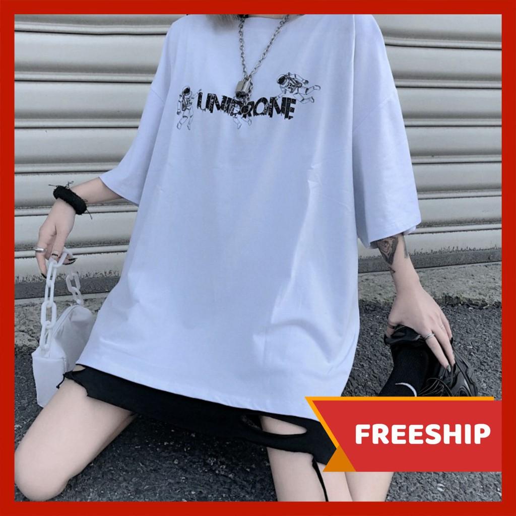 Áo thun nam nữ unisex tay lỡ AD67 PHG PT5, áo phông tay lỡ unisex form rộng oversize streetwear