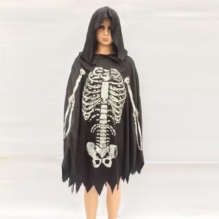 Áo choàng xương phù thủy hóa trang Halloween cho bạn 5-12 tuổi