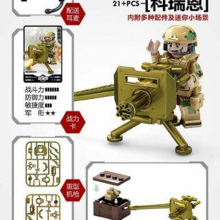 Combo đội quân sói trắng, xe tăng và mô hình vườn hoa cho bé