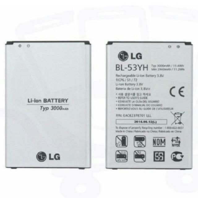 Pin LG G3 - 2982796 , 869576335 , 322_869576335 , 155000 , Pin-LG-G3-322_869576335 , shopee.vn , Pin LG G3