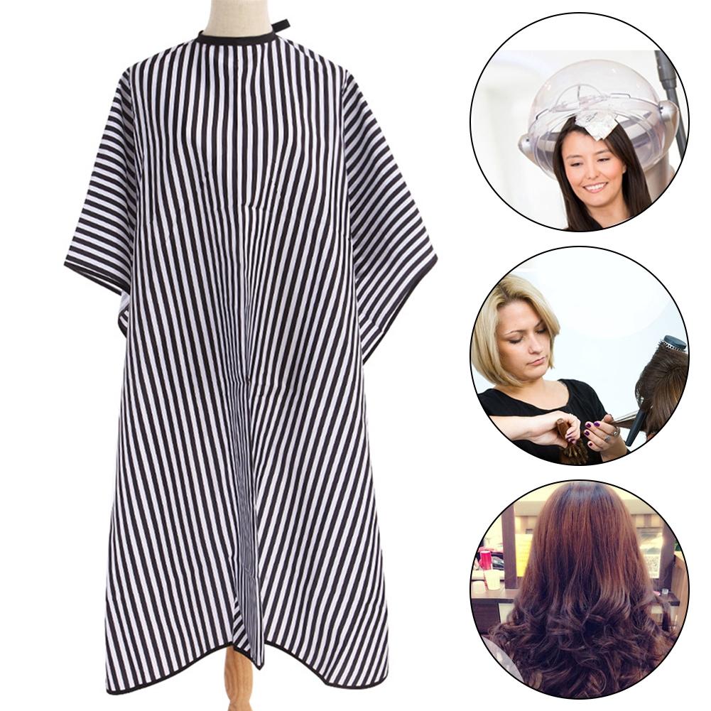 Waterproof Black White Hair Cutting Salon Nylon Adjustable Neck Strap Lightweight Durable Striped Pattern Styling
