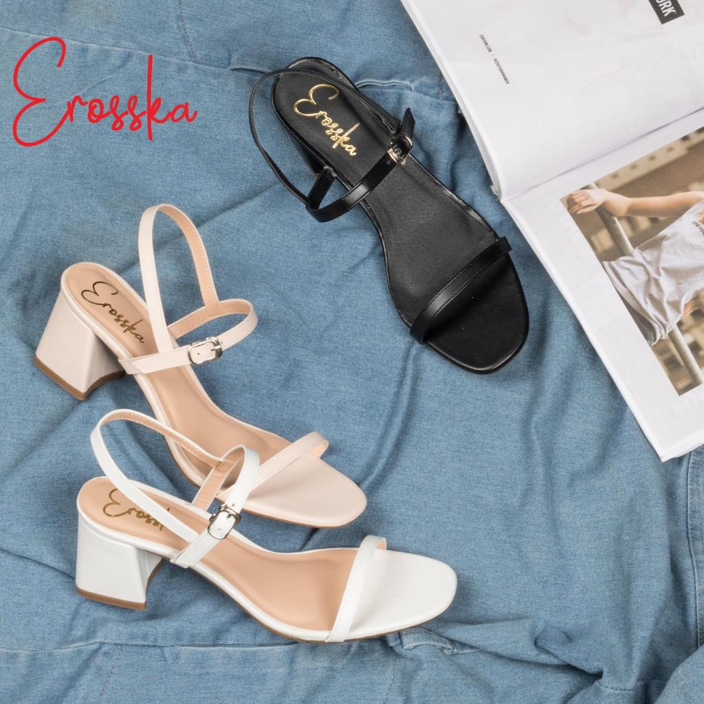 Hình ảnh Giày Sandal Nữ Thời Trang Erosska 5cm Mũi Vuông - EM019 - Màu Nude-8