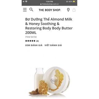 Bơ Dưỡng Thể Almond Milk & Honey Soothing & Restoring Body Body Butter 200ML