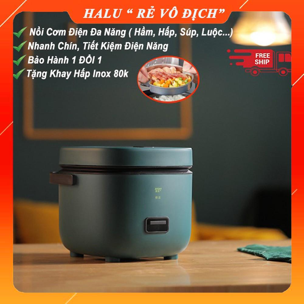 Nồi cơm điện mini đa năng Jiashi 0.8-1,2L [SẴN HÀNG] hàng nội địa cao cấp, nấu cháo, chưng, hấp, luộc phù hợp 1-2 người